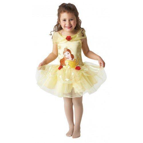 Mädchen Disney Belle Schönheit Tutu Ballerina Prinzessin büchertag Kostüm Kleid Outfit - Gelb, Gelb, 3-4 Years (Belle Ballerinas)