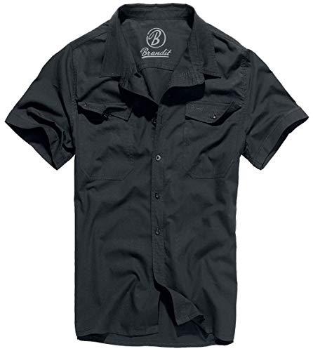 Brandit Roadstar Kurzarmhemd schwarz XXL