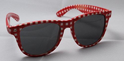 Brille rot-weiß, kariert, Andreas Brille by HaPe-Kopa©