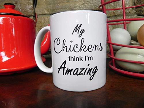 ChGuangm Funny Chicken Coffee Mug Coffee Cup Chicken Art Kitchen Decor Chicken Mug Chicken Egg Sign Fresh Eggs Rooster