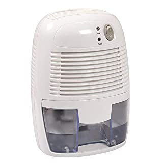 Aironic (TM) White Mini Portable Air Dehumidifier with 500 mililitre Tank