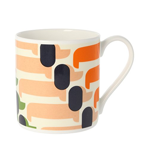 Orla Kiely Sausage Dog orange, Fine Bone China Tasse