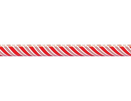ourcen Candy Cane gerade Border Trim, rot/weiß (4667) ()