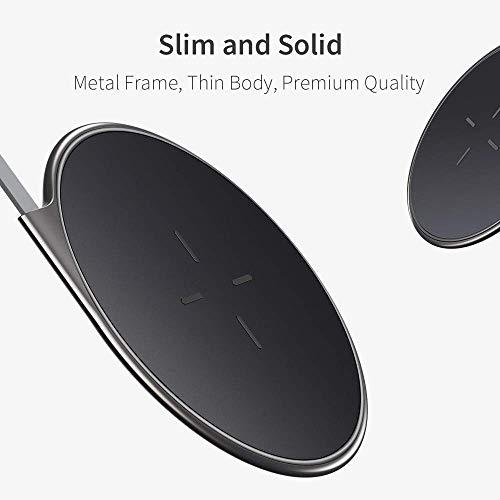 ESR Chargeur à Induction sans Fil Qi [Cadre Métal] 5W/7.5W pour iPhone XR/XS Max/Xs/X/8/8 Plus, 5W/10W pour Samsung Galaxy S10/S10+/S10e/Note9/S9/S9+/S8 (sans Chargeur Secteur) Noir