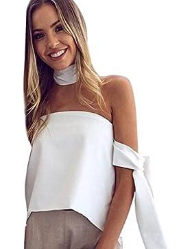 Vovotrade Mujeres Verano de hombro manga larga T-shirt