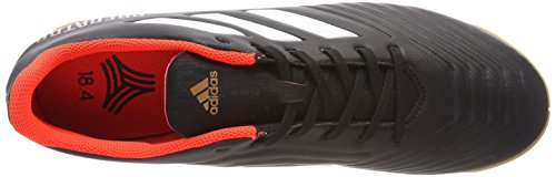 adidas Predator Tango 18.4 In, Chaussures de Football Homme Noir (Core Black/ftwr White/solar Red)