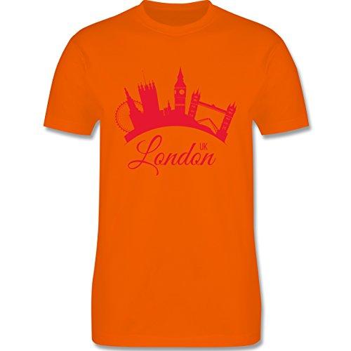 Skyline - Skyline London UK England - Herren Premium T-Shirt Orange