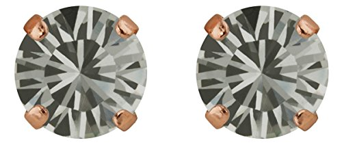 Rosi classique boucles d'oreille Medium 9mm, or rose plaqué or Black Diamond