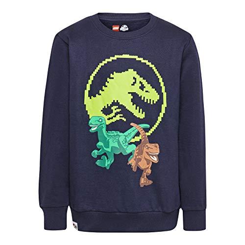LEGO Jungen Jurassic World cm Sweatshirt, Blau (Dark Navy 590), (Herstellergröße: 152) -