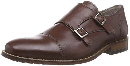 Clarks Penton Monk, Mocassini Derby con lacci, uomo, Marrone (Braun (Chestnut Leather)), 46