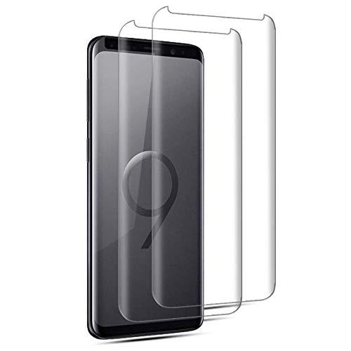 [2 Stück] Galaxy S9 Panzerglas Schutzfolie, Premium 9H Härtegrad Gehärtetem Glas Displayschutzfolie, Blasefrei, Ultra Klar Glatt, Anti-Kratzer, für Samsung Galaxy S9(Transparent)