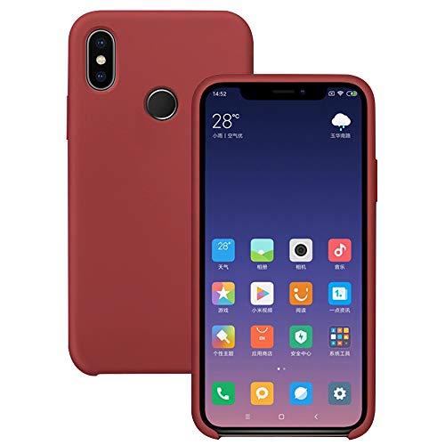 Pacyer Funda Compatible con Xiaomi Mi MAX 3, Ultra Suave TPU Gel de Silicona Case Protectora Suave Flexible teléfono Absorción de Impacto Elegante Carcasa Compatible Xiaomi Mi MAX 3 (Rojo Oscuro)