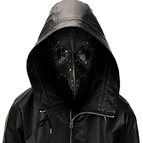 CANAVA Pest-Doktor-Vogel-Maske mit Langer Nase, Halloween-Dekor-Maske, Atmungsaktiver Verstellbarer Gurt Steampunk-Maske Cosplay - Kulturell Passenden Kostüm