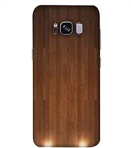 PrintVisa Wooden Door Pattern 3D Hard Polycarbonate Designer Back Case Cover for Samsung Galaxy S8
