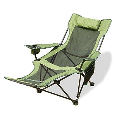 Xi Man Shop Outdoor Folding Lounge Chair   Portable Back Fishing Chair   Camping Folding Chair   Casual Chair Napping Bed Chair by Xi Man Shop