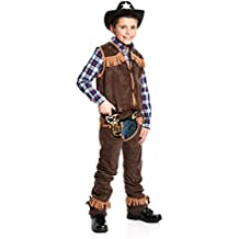 466ba3a53524d4 Kostümplanet Cowboy-Kostüm Kinder Junge mit Chaps und Weste Wilder Westen
