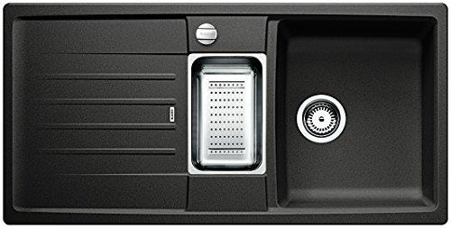 Blanco Lexa 6 S Küchenspüle, Silgranit PuraDur, anthrazit-schwarz, 514676