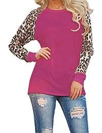 Naturazy Camisas De Mujer, Blusa De Leopardo De Las Mujeres De Manga Larga para Mujer