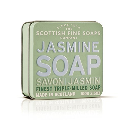 Scottish Fine Soaps Jasmine Floral Soap Tin Soap 100g by Scottish Fine Soaps