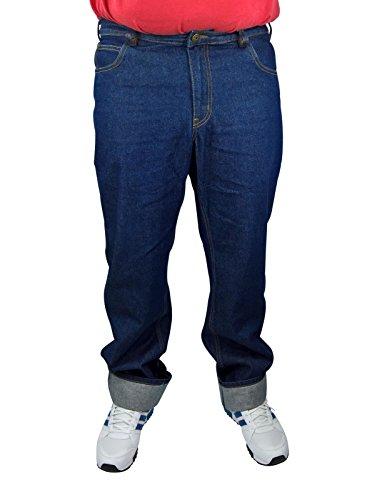 Herren 5-Pocket Jeans 60, 62, 64, 66, 68, 70, XL, XXL, 3XL, 4XL, 5XL, 6XL, Große Größen, Übergröße, Big Size, Plus Size (62, Dark blue)