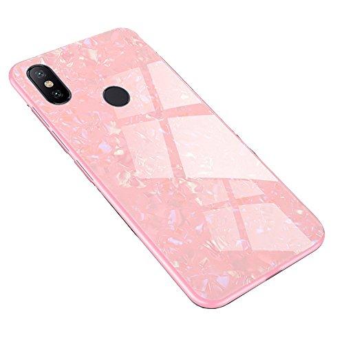 Funda Xiaomi Redmi S2, LAGUI Carcasa Muy chulo de Ultrafino, Panel trasero de vidrio y combinación de marco de TPU suave, Anti-Arañazos Anti-huella Dactilar a Prueba de Choque. rosado