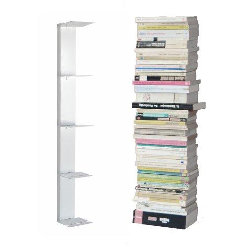 Radius Design booksbaum - Bücherregal - single - wand - klein - weiß - 2tlg. best.aus: Halterung + Einlegeböden [W] 'w Bücherregal