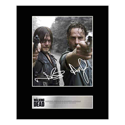 Signierter Fotodruck von Norman Reedus alias Daryl Dixon und Andrew Lincoln alias Rick Grimes aus der Serie