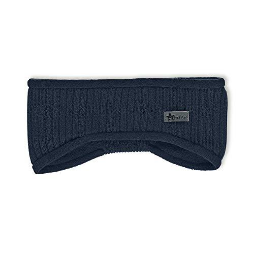 Sterntaler Strick-Stirnband für Jungen und Mädchen mit Fleece-Futter, Alter: 9-18 Monate, Größe: 47/49, Blau (Marine)