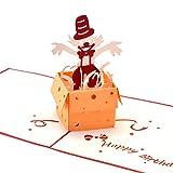 #6: Yolopop Handmade Joker in the Box Happy Birthday Pop Up Greeting Card / Gift