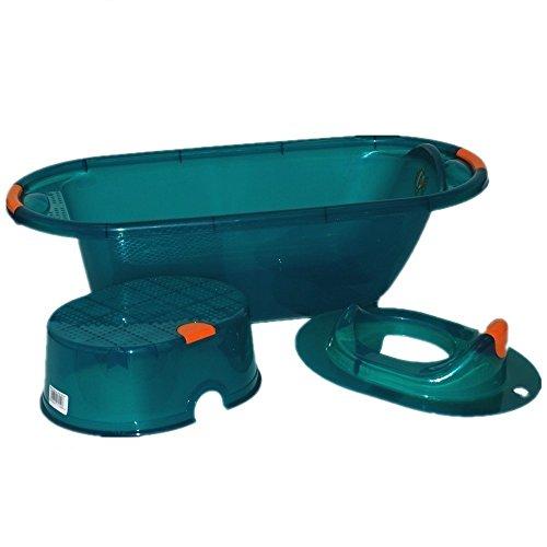 crazygadgetr-plastic-large-3-pieces-baby-kids-deluxe-wash-bath-tub-stool-toilet-seat-training-set