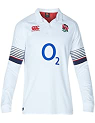 Canterbury England Official 17/18 Men's Rugby Long Sleeve Home Classic Jersey