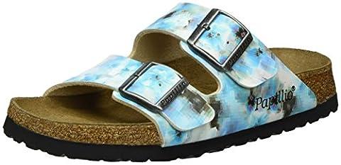Papillio Damen Arizona Birko-Flor Softfootbed Pantoletten, Mehrfarbig (Pixel Blue Soft), 40 EU
