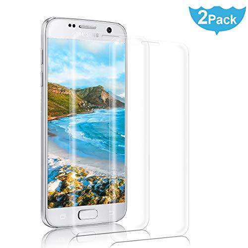 NONZERS Panzerglasfolie fürSamsung Galaxy S7,[3D Vollständige Abdeckung] Panzerglas Schutzfolie fürS7,Anti-Öl,Kratzer und Fingerabdrücke Bubble-frei,2 Stück