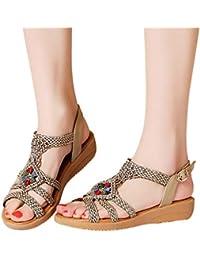 Sandali Vintage Morbidi Sandali Infradito Sandali Estivi Scarpe Open Toe da  Donna con Cinturino alla Caviglia 064fa3815e3