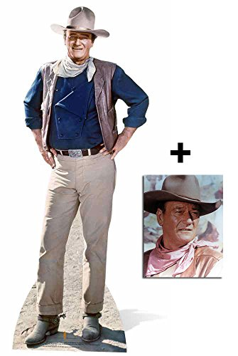 John Wayne Classic Pose Pappaufsteller - mit 25cm x 20cm foto