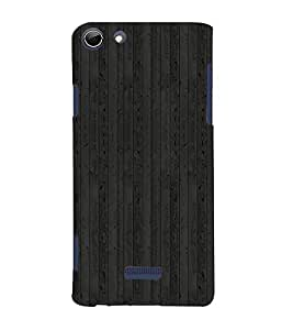 Black Wood Background 3D Hard Polycarbonate Designer Back Case Cover for Micromax Canvas Selfie 3 Q348