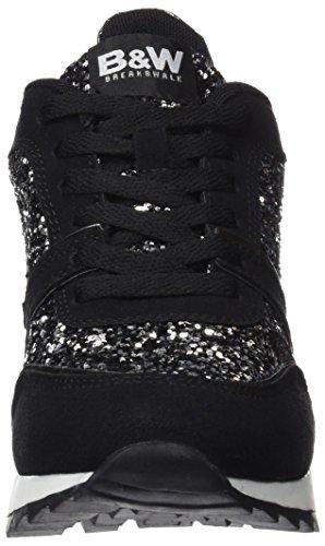 Break&Walk Hi221801, Sneaker Alte Donna Nero