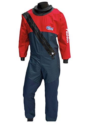 Dry Fashion Damen Herren Kinder Trockenanzug Sailing Standard Nylon, Größe:XL, Farbe:Navy/Rot (Trockenanzug Nylon)