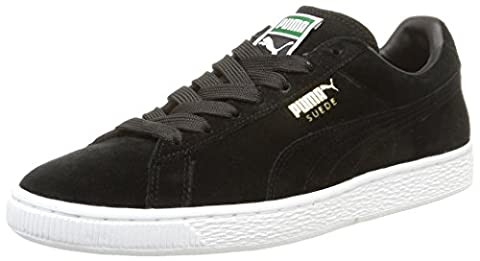 Puma Suede Classic+ - Sneakers Basses - Mixte Adulte - Noir (Black/Gold/White 87) - 40 EU (6.5 UK)