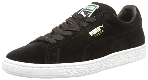 Puma - Suede Classic+, Sneakers da uomo, Nero ( Black/team gold/white), 44.5