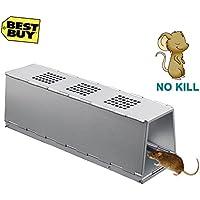 Grentay Ratoneras, Profesionales Ratoneras Trampa, Metal Eliminación eficiente de Ratones - no tóxico, fácil de Limpiar, Reutilizable Jaula Trampa para ratón, Ratas, Hamster, Topo, Mustela