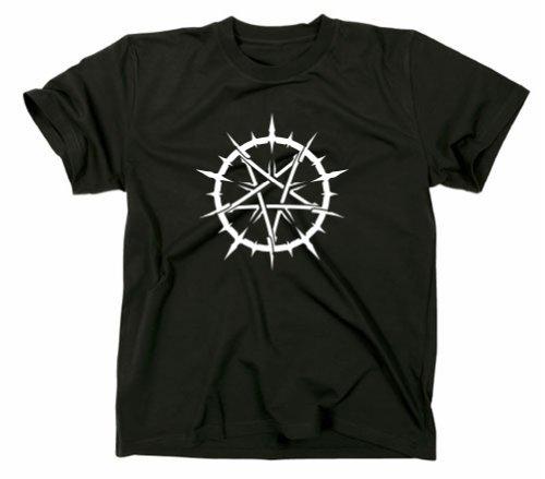 Pentagramm T-Shirt im Tribal Design, schwarz, XL