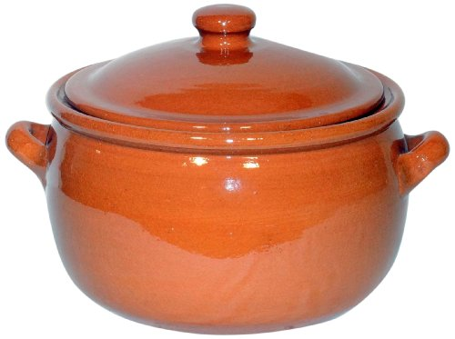 Amazing Cookware SB113 Natural Terracotta 3 Litre Stew Pot - Brown
