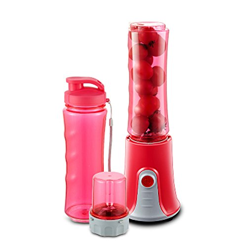 DULPLAY Smoothie maker,Entsaften sie blender,Personal blender,Edelstahl,Portable Bpa frei 22,000 u min 2 x 20 oz tritan sport bottle-Rot 29x13.5x13cm(11x5x5inch) - Rot Sport-mixer Bottle Blender