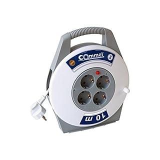 Commel Kabelbox 4-fach weiss/grau 7.5m H05VV-F 3G1