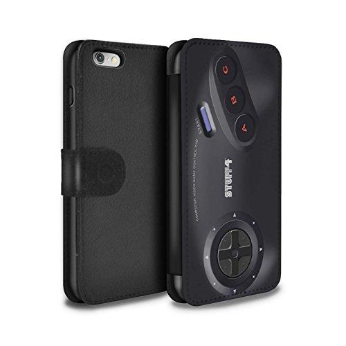 STUFF4 PU-Leder Hülle/Case/Tasche/Cover für Apple iPhone 5/5S / Schwarz Xbox 360 Muster / Spielkonsolen Kollektion Sega Megadrive