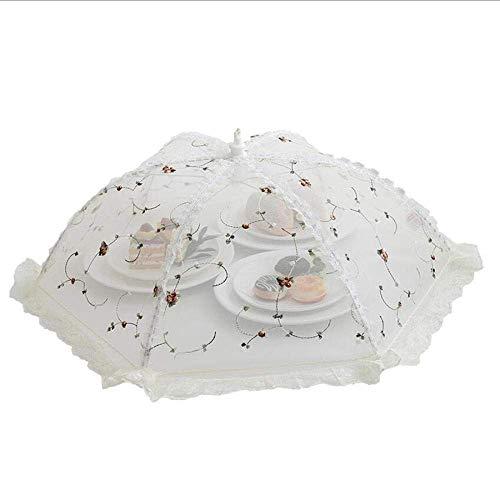 Preisvergleich Produktbild AAQ Mesh Food / Cake Cover Umbrella,  Spitze,  Weiß