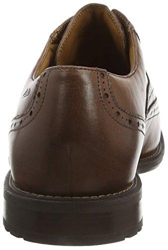 Clarks  Un Limit, Oxford homme Tan Leather