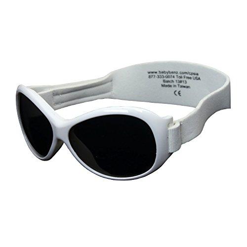 Baby Banz Retro Sonnenbrille - Weiß - White