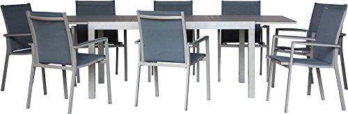 IB-Style Premium Gartenmöbelset FLORENCE -Mit innovativer Anti-Fingerprint Tischplatte aus...